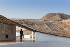 Toshiko Mori: Thread. The cultural centre designed by Toshiko Mori in a rural village in Senegal – commissioned by Josef and Anni Albers Foundation – features local materials and local builders to give shape to an artist residency that is also a hub for the local community. More in our website. . . .  #architecture #buildings #love #architecturelovers #geometry #lines