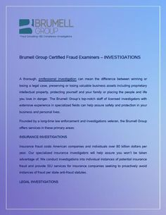 Brumell Group offers investigative services in these areas: due diligence / background, legal, insurance, business, and personal. Win Or Lose, Investigations, Hong Kong, Singapore, United Kingdom, Florida, Group, Learning, Business
