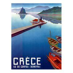 #Greece Corfu Kerkyra vintage travel postcard - #travel #trip #journey #tour #voyage #vacationtrip #vaction #traveling #travelling #gifts #giftideas #idea