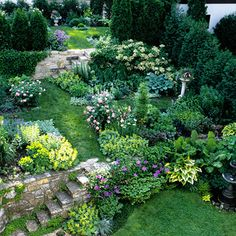 This Planting Guide Solves All of Your Sloped Garden Problems Garden Room Galleries Landscape Edging Stone, Landscape Design, Garden Design, Landscape Steps, Terraced Landscaping, Landscaping Ideas, Terraced Garden, Luxury Landscaping, Backyard Ideas