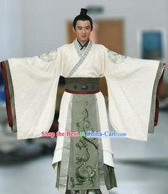 Ancient Chinese Han Dynasty Prince Dragon Robe SetTampa