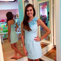 Pink Bee | Lilly Pulitzer | Spring 2014 | Seersucker Vivienne Dress