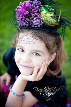 Adorable tea party session!  Love this hat!