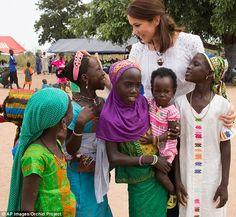 Passionate Princess: Princess Mary flew to West Africa as part of a four-day whirlwind wom...