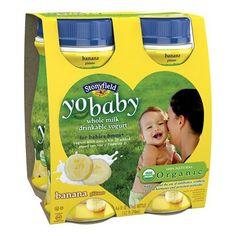 Stonyfield YoBaby Banana Drinkable Yogurt 4 oz 4 ct