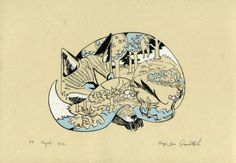 Sleeping Fox Screen Print