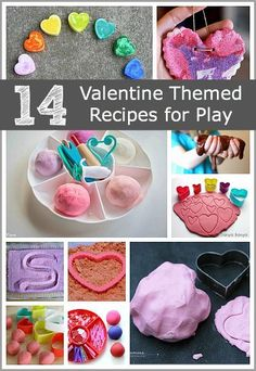 14 Valentine Themed Sensory Play Ideas: including homemade crayons salt dough hearts homemade playdough and more! Valentine Crafts For Kids, Valentines Day Activities, Crafts For Kids To Make, Craft Activities, Homemade Valentines, Valentines Recipes, Valentine Ideas, Kids Crafts, My Funny Valentine