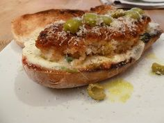 Italian Style Breaded Chicken Sandwich #recipe