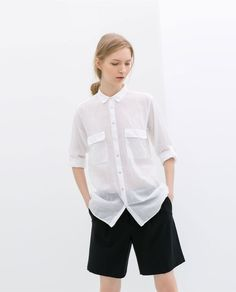 Image 1 of LONG VOILE SHIRT from Zara