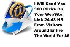 selfmadebosss: send You 500 Clicks On Your WebSite Link for $5, on fiverr.com