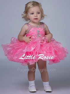 a76a60bb2 Little Girl Pagent Dresses Pink Beautiful 2015 Infant Cupcake Toddler  Pageant…