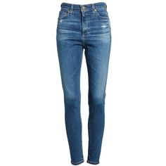Women's Ag Mila Ankle Skinny Jeans (€180) ❤ liked on Polyvore featuring jeans, stretch blue jeans, skinny ankle jeans, blue skinny jeans, high waisted stretch skinny jeans and stretchy jeans