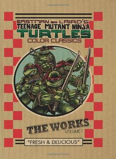 Teenage Mutant Ninja Turtles: The Works Volume 1 by Kevin Eastman http://www.amazon.ca/dp/161377625X/ref=cm_sw_r_pi_dp_sUZJwb1A8XYRV