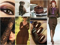 Polish blogger Maria analyses shades of *brown* suitable for each season type: CHOCOLATE BROWN. Good for all season types.
