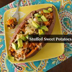 Dinner for one: Stuffed Sweet Potatoes