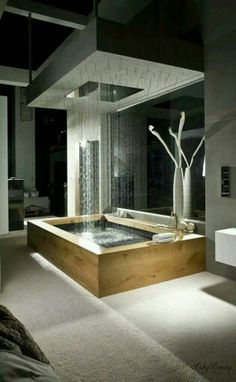 dream bathrooms Today we select 5 Modern Bathroom Design to 2018 that you'll fall in love with. We can have environments with modern but eccentric styles wich will differenciat Dream Bathrooms, Beautiful Bathrooms, Luxury Bathrooms, Modern Bathrooms, Spa Bathrooms, Master Bathrooms, Fancy Bathrooms, Luxury Rooms, Luxury Houses