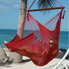 Bungalow Rose Travis Large Caribbean Polyester Chair Hammock | Wayfair Fire Pit Table And Chairs, Blue Dining Room Chairs, Farmhouse Dining Chairs, Leather Dining Room Chairs, Leather Chairs, Modern Armchair, Modern Chairs, High Chairs, Hammock Chair