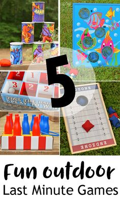 5 Fun Outdoor Last Minute Games or Activities to add to a party or impromptu backyard barbecue AD @orientaltrading