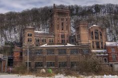 This mine has been build in 1907 and was abandoned in 1977. Belgium.