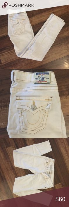 True religion white skinny jeans Size 26. White skinny jeans from true religion. BRAND NEW NO TAGS. Never been worn. No holes. Inseam is 31 inches. True Religion Jeans Skinny