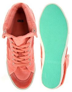 womans coral hight tops