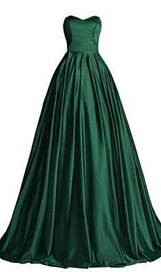 Hunter Green Prom Dress,Bodice Prom Dress,Fashion Prom Dress,Sexy