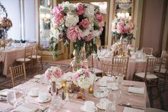 Pastel Wedding Reception Decor, Wedding Reception Photos by Ron Miller Photography