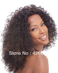 celebrity kinky curly synthetic lace front wig heat resistant hair wig for black woman afro kinky curl lace wig-in Synthetic Wigs from Beauty & Health on Aliexpress.com