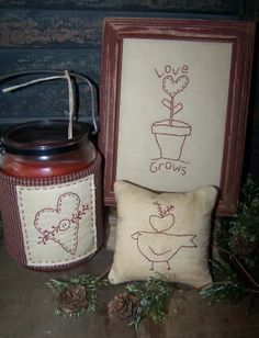 Rustic Threads Primitive Stitchery Patterns | Stitchery E-Patterns