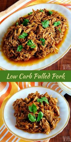 Low Carb Pulled Pork Recipe – No Sugar Added via @lowcarbyum