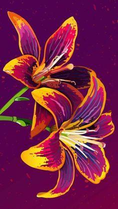 Flower Art iPhone Wallpaper - Best of Wallpapers for Andriod and ios Flower Iphone Wallpaper, Cellphone Wallpaper, Wallpaper Backgrounds, Phone Backgrounds, Pattern Wallpaper Iphone, Purple Wallpaper, Wall Wallpaper, Art Floral, Floral Prints