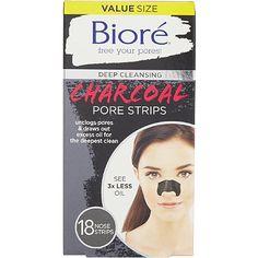 Bioré Deep Cleansing Charcoal Pore Strips 18ct Nose