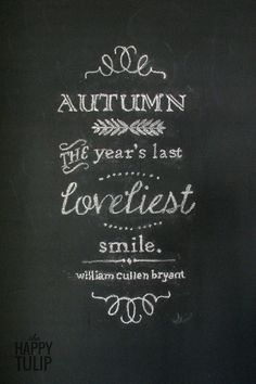 The Happy Tulip: How To Easily Create Chalkboard Art Without Needing Great Handwriting [Celebrating Fall, Day 9]