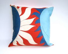 Rare Vera 1960s Sun Throw Pillow Cover  Pillow Sham