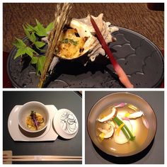 One of the best dinners ever. Top is my favorite turban shell. #kaiseki #懐石料理 #あせび野#さざえ by cjsamuels1