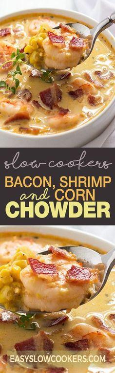 BACON, SHRIMP AND CORN CHOWDER