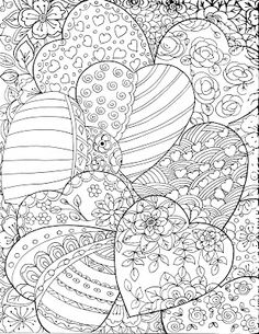 Currently I am working on my next Coloring Book. it will be ready by the end of the month. It is all about Hearts, very appropriate. Love Coloring Pages, Valentine Coloring Pages, Printable Adult Coloring Pages, Mandala Coloring Pages, Coloring Sheets, Coloring Books, Coloring Stuff, Smash Book Inspiration, Doodle Art Journals
