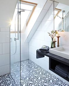 Top Loft Conversion Ideas That Will Transform Your Attic - Shower Room in Your Attic Shower Room, Attic Bathroom, Bathrooms Remodel, Loft Room, Small Attic Bathroom, Loft Bathroom, Attic Shower, Ensuite Shower Room, Bathroom Design