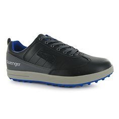 Mens Golf Shoes Idea | Slazenger Casual Golf Shoes Mens Black Golfing Footwear Shoe UK8 EU42 >>> To view further for this item, visit the image link.(It is Amazon affiliate link) #la
