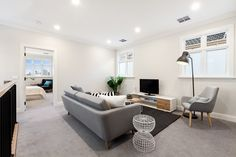 Stunning Sunday: Brand new weatherboard for sale in Essendon, Melbourne, VIC Melbourne House, Bean Bag Chair, Sunday, Real Estate, House Design, Brand New, Couch, Furniture, Home Decor