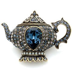 """Heidi Daus """"My Cup of Tea"""" Crystal-Accented Pin"""