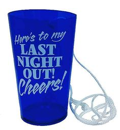 A great gift to get for the Bride to Be or Groom to Be, this Hanging Beer Glass makes sure they never loose their drinking cup, and lets everyone know there's a Bachelor Party or Bachelorette Party in the house!!