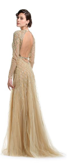 Sequin backless gown / Zuhair Murad RTW Pre-Fall 2012