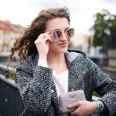 Ladies' sunglasses glasses Vuch Colorful Sunglasses Vuch fashion glasses fashion glasses women's glasses Leisure sunglasses Cat Eye Sunglasses, Round Sunglasses, Fashion Outfits, Womens Fashion, Wallets For Women, Stella Mccartney, Fashion Accessories, Dj, Stylish