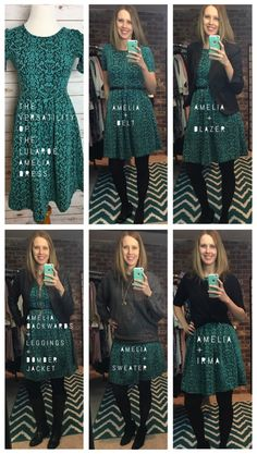 The LuLaRoe Amelia dress is so cute and versatile. Check out five different ways to style it!