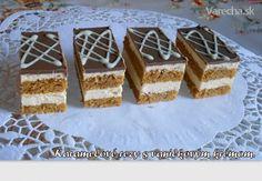 Karamelové rezy s vanilkovým krémom (fotorecept) - recept | Varecha.sk Krispie Treats, Rice Krispies, Desserts, Food, Basket, Kuchen, Tailgate Desserts, Deserts, Essen