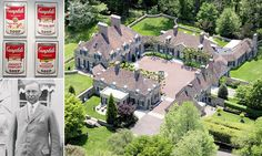 A $24.5million mansion built on soup: Luxury home of Campbell's heir goes on the market