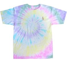 TIE DYE EMBROIDERED MIDDLE FINGER TEE