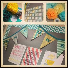 """Cute classroom decor Flags with """"green class"""""""