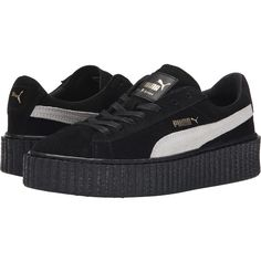 PUMA Rihanna x Puma Suede Creepers Women's Shoes ($120) ❤ liked on Polyvore featuring shoes, sneakers, creeper shoes, platform shoes, punk platform shoes, breathable shoes and laced shoes